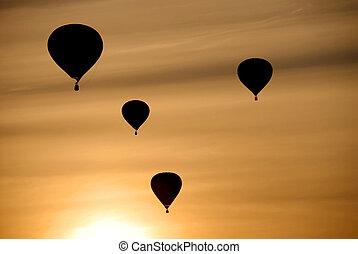 熱, 气球, 空氣