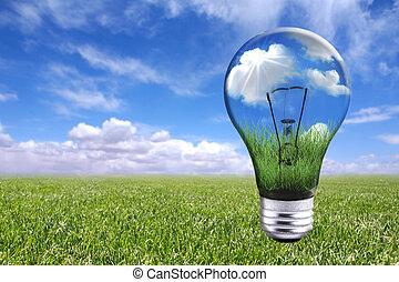 燈泡, 自然, 風景