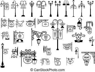 燈籠, 街簽名