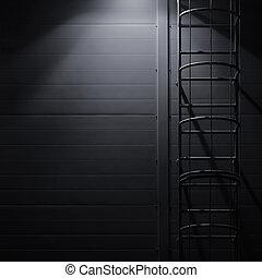 燈, 闡明, 垂直, 梯子, 火, 鑰匙, 樓梯, 援救, 光, 享用机會, 明亮, 黑色, 建築物, 大, 夜晚, 模仿, 燈籠, 緊急事件, 黑暗, 圖案, 鄉村, 維護, textured, 人物面部影像逼真, 灰色, 工業, 牆, 發光, 詳細, 場景, 發光, 樓梯, 空間, 面板, 荒蕪, 結構, 背景, 屋頂, 遮蔽, 逃跑