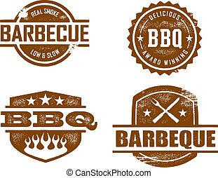 燒烤野餐, 郵票