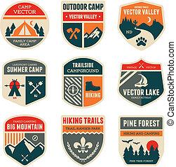 營房, retro, 徽章
