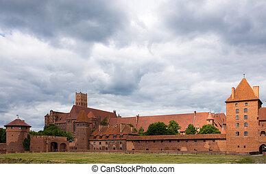 牆壁, malbork, 城堡