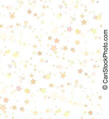 牆紙, 矢量, 金, 喜慶, 創造性, 織品, 包裹, seamless, 結構, 背景。, 紙, 星, 圖案, 白色, 你