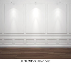 牆, 白色, spotslight, classis