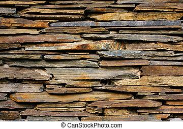 牆, 石頭, 板岩, 結構