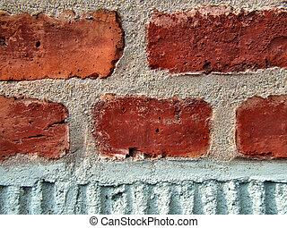 牆, 磚, 紅色