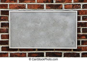 牆, 磚, 金屬標誌