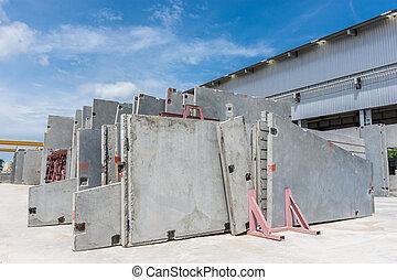 牆, precast, 混凝土, 面板