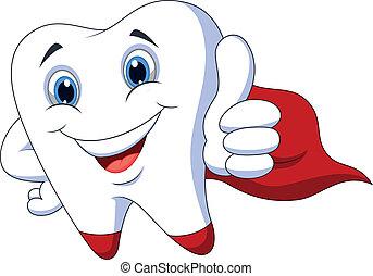 牙齒, 卡通, superhero, 漂亮