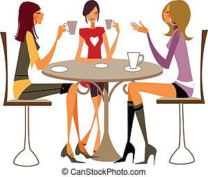 特寫鏡頭, 婦女, 椅子, 坐