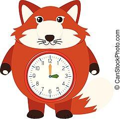 狐狸, 紅色, 鐘