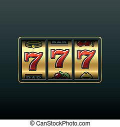 狹縫, 777., machine., 贏得