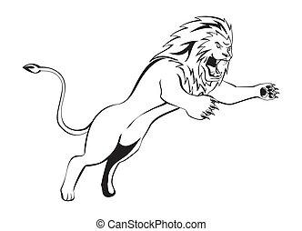獅子, 攻擊