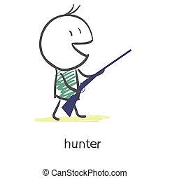 獵人, 卡通
