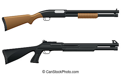 獵槍, 插圖, 矢量