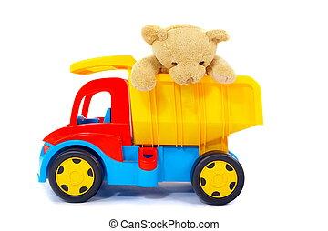 玩具, 熊, 卡車