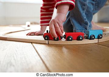 玩, 木制的玩具, 孩子, 訓練