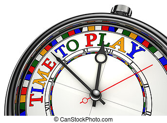 玩, 概念, 時間鐘