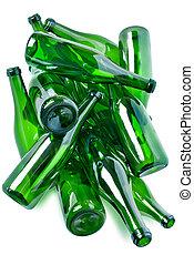 玻璃瓶子, 綠色