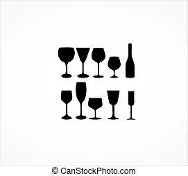 玻璃酒, 杯子