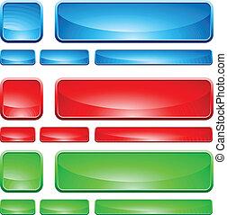 玻璃, 按鈕, 形狀