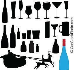 玻璃, 矢量, 瓶子