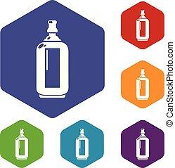 玻璃, hexahedron, 矢量, 瓶子, 圖象