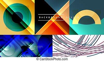 現代, 幾何學, 背景, 摘要, 彙整, 矢量