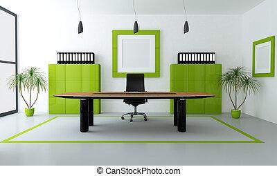 現代, 綠色, 辦公室