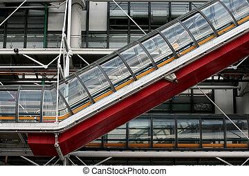 現代, 電動扶梯