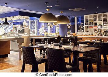 現代, 餐館