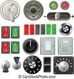 球形門柄, 撥, 元素, 設計, 開關