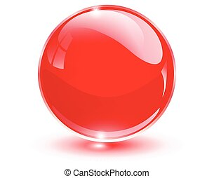 球, 玻璃