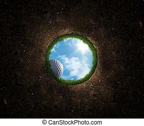 球, 高爾夫球, 落下
