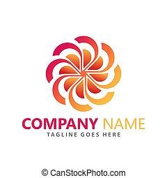 理念, 矢量, 摘要, 公司, 花, 設計, 插圖, 樣板