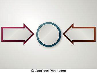 環繞, 矢量, 箭, 插圖