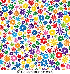 瓦片, 花, 鮮艷