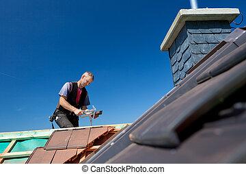 瓦片, 錘子, 屋面工, 鑄造