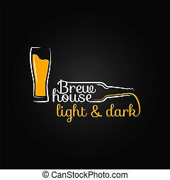 瓶子, 房子, 玻璃, 啤酒, 設計, 背景