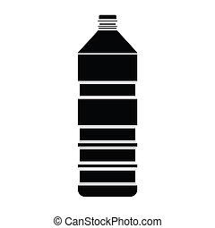 瓶子, 矢量, 黑色半面畫像