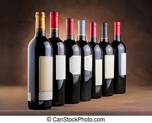 瓶子, 紅的酒