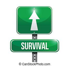 生存, 設計, 路, 插圖, 簽署