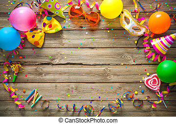 生日, 或者, 背景, 狂歡節, 鮮艷