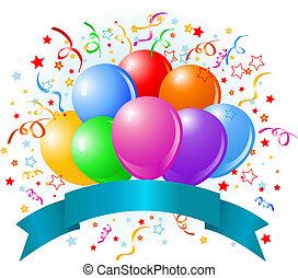生日, 气球, 設計