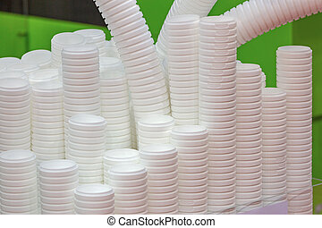 生產, 塑料的杯杯狀結構杯狀物