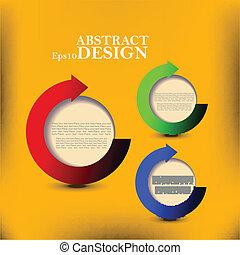 產品, 摘要, 黃色, 選擇, 紙, 背景。, 矢量, 進展, 消息, 或者