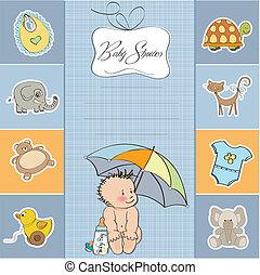 男嬰, 陣雨, 卡片