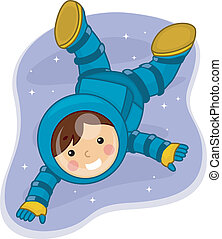 男孩, 宇航員