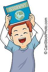 男孩, 很少, 他的, 愉快地, 顯示, 插圖, n, 當時, 微笑